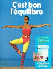 PUBLICITE ADVERTISING 0217  1984   eau minérale équilibre Evian