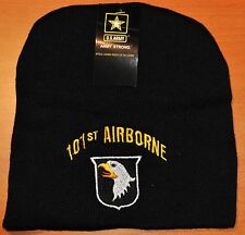 NEW 101ST AIRBORNE DIVISION US ARMY WINTER BEANIE KNIT STOCKING SOCK CAP HAT
