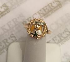 Vintage 14k yg Enameled D of N Daughers of Nazareth? or Fraternal Ring size 8