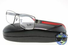 Ray-Ban RX Eyeglasses RB 6319 2837 Gunmetal Grey Red Frame [55-17-145]