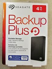 Seagate Backup Plus 4TB Portable External Hard Drive - 200GB of Cloud Storage