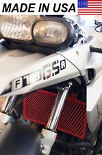 AVT BMW 08-12 F650GS Twin Radiator Protector / Shield / Guard / Cover RED