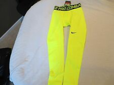 Nike Men's Pro Combat  Warm Compression Tights-596297-702 Yellow-X-Large-NWT