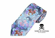 Lord R Colton Masterworks Tie - Pewter New Born Woven Silk Necktie - $195 New