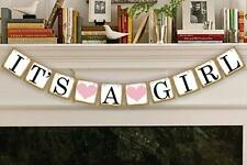 It's a Girl Banner Bunting Garland New Birth Baby Shower Party Hanging Decor