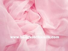 """PINK SOFT NET TULLE STRETCH FABRIC 60""""W Camisole Bridal Dance Wear"""