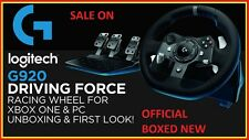 Nuevo LOGITECH Force G920 Xbox One & Driving PC Racing Rueda & Pedales-Negro Reino Unido se