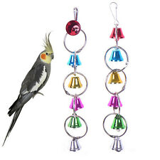Pet Bird Bell Toys Chew Parrot Ringer Hanging Swing Cage Cockatiel Parakeet Toy