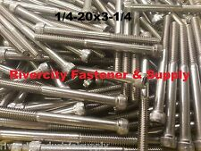 (10) 1/4-20x3-1/4 Socket Allen Head Cap Screw Stainless Steel 1/4 x 3.25""