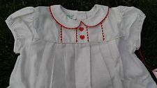 NWT Vintage Kate Greenaway Pleated Frock Dress Baby Girls Sz 15 - 18 Mo. Cotton