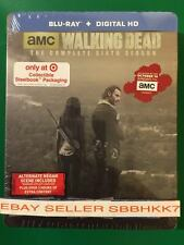 The Walking Dead: The Complete Sixth Season 6 Blu-ray Digital HD Steelbook NEW!