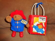 "Paddington Bear Mini 5"" Plush Bear Paper Bag Agusta Du Bay 2008 Paris France"