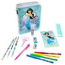 JASMINE~Aladdin~ZIP UP STATIONARY KIT~Markers+Pencils+Pen~NWT~Disney Store~STAMP