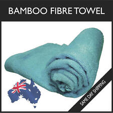 100% Bamboo Fibre Baby Towel Silky Soft Kids Clean Fiber Burp Cloth Blue 70x30cm