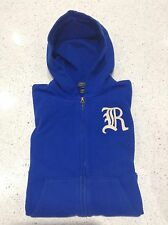 POLO RALPH LAUREN Blue With Cream Applique Logo  Hoodie Size M Age 10-12 BNWT