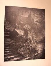 GRAVURE SUR BOIS DE G.DORE 1899 PEAU D ANE
