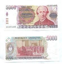 ARGENTINA NOTE 5000 PESOS (1985) LOPEZ-VAZQUEZ B# 2639 SERIAL B P 318 UNC
