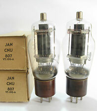 2 +/-1950 National Union JAN-CNU-807 / VT-100A tubes - Black Plate, [] [] Getter