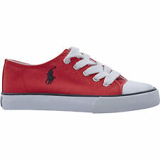 POLO RALPH LAUREN Kids Red Canvas Shoes Sneakers size 2.5 - New Ex Display