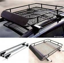 M-Way Lockable Aluminium 135cm Roof Rail Bars & Car Rack Tray for VW Touareg