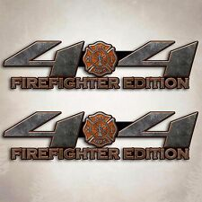 4x4 Truck Firefighter Sticker Orange Fire Off Road Decal Set