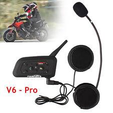 BT Motorrad Helm Gegensprechanlage Bluetooth Interphone Headset V6 1200m 6Riders