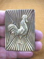 (B-BIRD-804) Rooster game bird cock love roosters chicken rectangle pin pendant