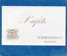 PAUILLAC 1ER GCC VIEILLE LITHOGRAPHIE 19e LAFITE 1880/1890 EXPORT    §21/05/16§
