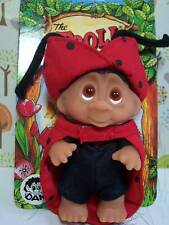 "1985 LADY BIRD THE LADYBUG - 3"" Dam Norfin Troll Doll Wildlife Series - NEW"