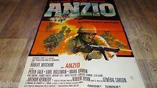 ANZIO   !   robert mitchum peter falk  affiche cinema 1968
