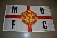 Manchester United Football Club MUFC 5' x 3 Soccer Crest 1997 England Flag Man U