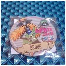 Rare!! Tokyo One Piece Tower Limited Birthday Can Badge Brook April 3rd
