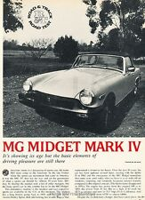 1976 MG Midget Mark V Road Test Original Car Review Print Article J638