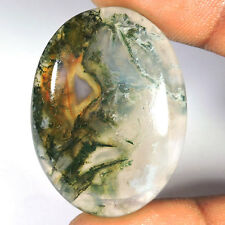 81.65 Cts 100% AA+ NATURAL GREEN MOSS AGATE OVAL CABOCHON  LOOSE GEMSTONES