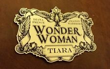WONDER WOMAN TIARA DISPLAY PLACARD FOR YOUR COSPLAY PROP