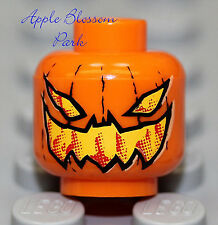 NEW Lego Orange PUMPKIN MINIFIG HEAD Halloween Scarecrow Monster Jack-O-Lantern