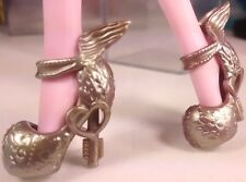 Bronze C.A.Cupid Ever After Monster High Unpainted Winged Doll Shoes USA Seller