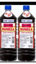 2 Dark Danncy Pure Mexican Vanilla Extract 33oz1L Ea Plastic Bottle From Mexico