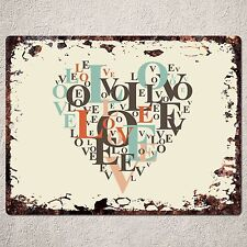 PP0103 Rustic Love Valentine's Day Gift Parking Plate Home Cafe Wall Decor Sign