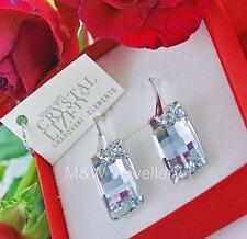 925 STERLING SILVER EARRINGS SWAROVSKI Elements URBAN CRYSTAL CAL 20mm