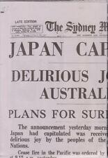 Sydney Morning Herald 16th August 1945 Replica Complete Newspaper