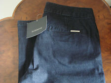 Brand New Women's Liz Claiborne Blue Denim Wide Legged Jeans House of Fraser 6