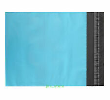 "15 Poly Envelopes Blue Mailing Bags Shipping Mailers 4.3"" x 7""_110 x 180+40mm"