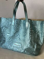 BRACCIALINI Firenze Metallic Unlined Leather Bag/Made in Italy/Handbag/$398/New