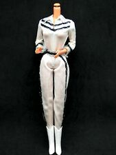 VINTAGE 1980 SUPERSTAR ERA WESTERN BARBIE WHITE JUMPSUIT & COWBOY BOOTS