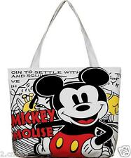 New Women White Mickey Mouse Tote Bag Shoulder Bag Handbag Canvas