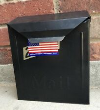 Vintage Wall Mount Black Mail Box Metal Hanging Letter Holder