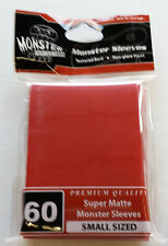 Yugioh Monster Protectors SUPER MATTE RED Deck Protectors/Sleeves 60ct