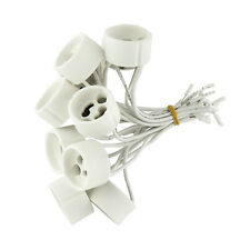 100 x Fassungen GU10 für Halogen, LED Lampe Sockel Fassung Keramik mit Kabel