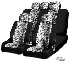 New Design Safari Snow Leopard Print Car Truck SUV Seat Covers For Toyota